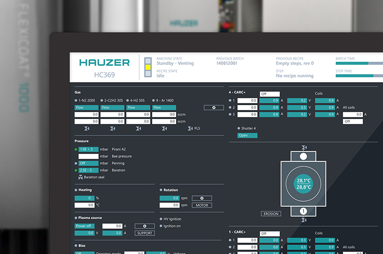 User interface voor Control Software
